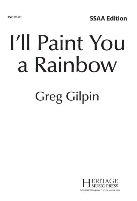 I'll Paint You a Rainbow