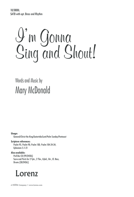 I'm Gonna Sing and Shout!