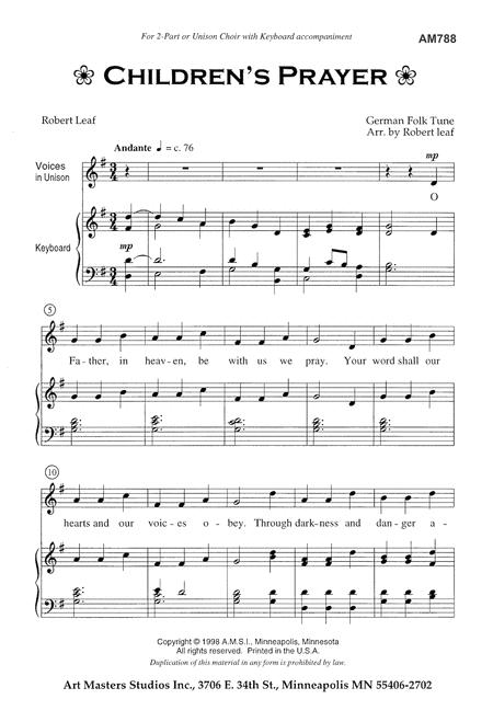 Children's Prayer