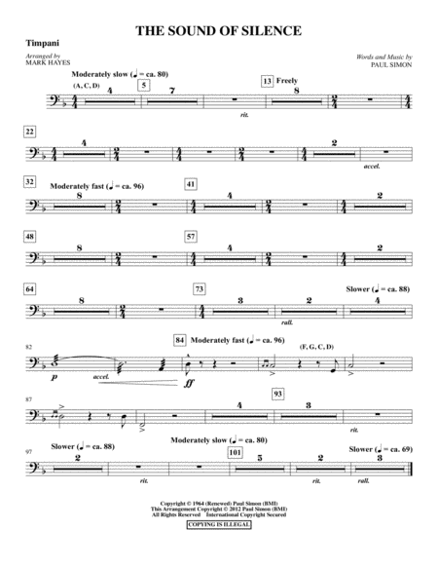 The Sound Of Silence - Timpani