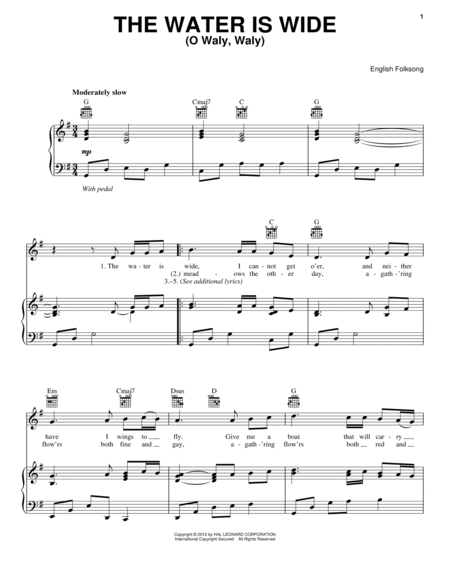 the water is wide sheet music pdf