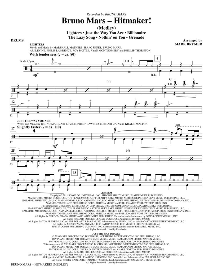 Bruno Mars: Hitmaker! (Medley) - Drums
