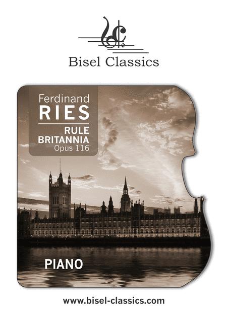 Rule Britannia, Grandes Variations pour le Pianoforte, Opus 116 - Piano part