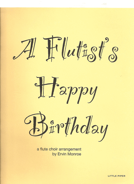 Flutist's Happy Birthday