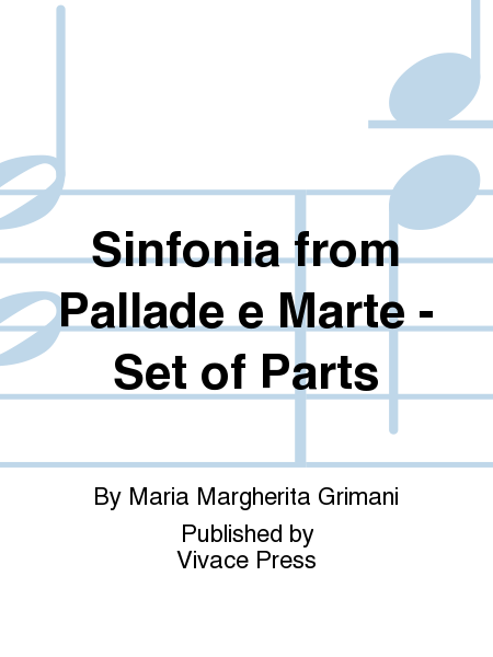 Sinfonia from Pallade e Marte - Set of Parts