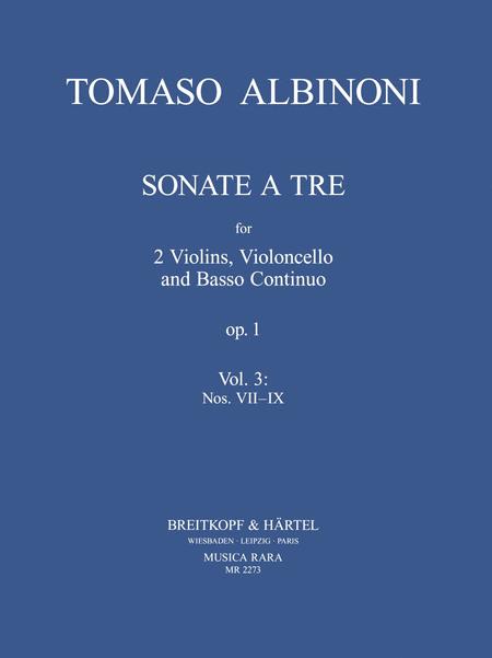 Sonate a tre op.1 Heft 3: Nr. VII-IX