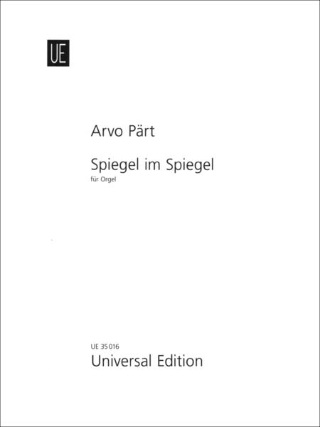 Spiegel im spiegel sheet music by arvo part sheet music plus for Spiegel your name