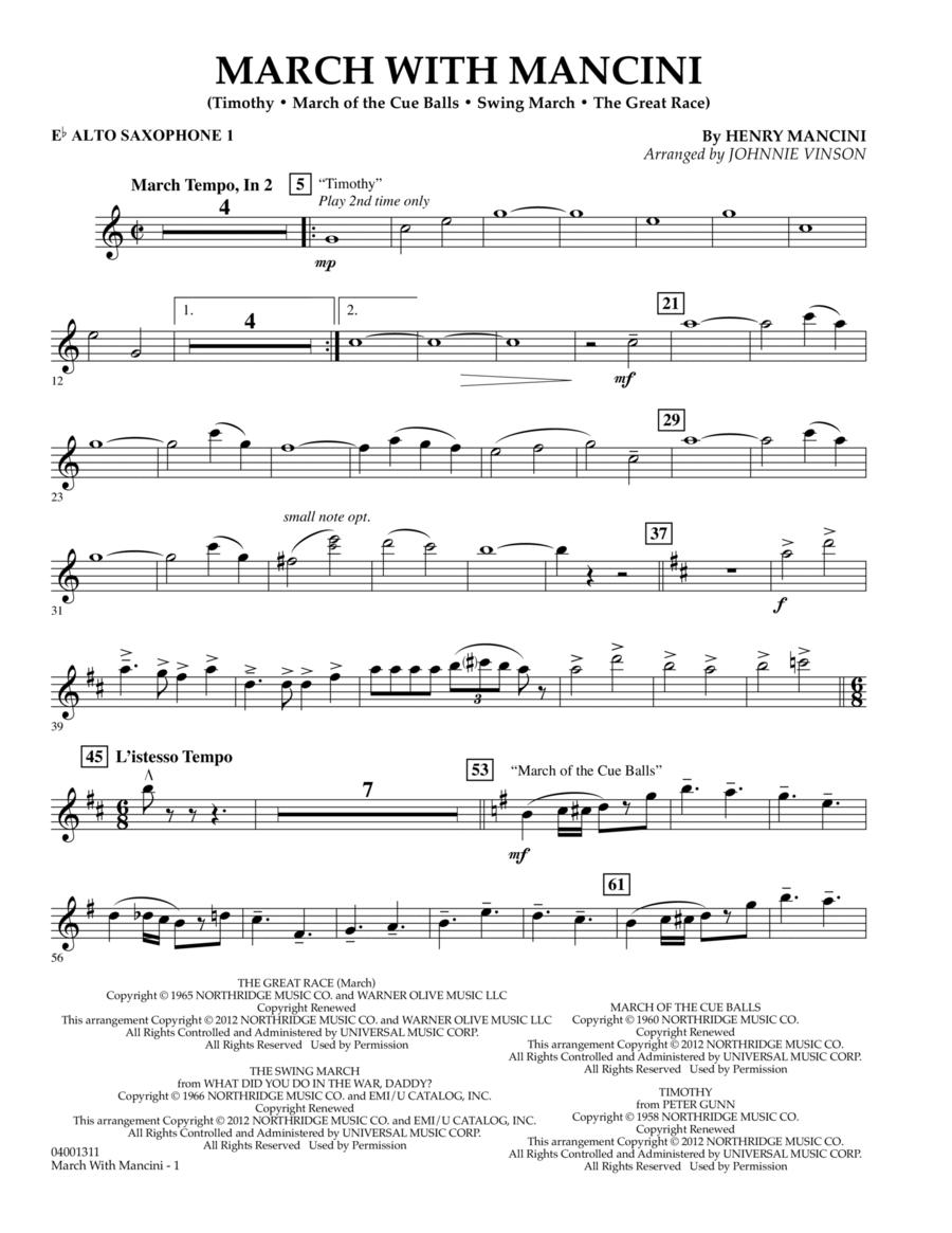March With Mancini - Eb Alto Saxophone 1
