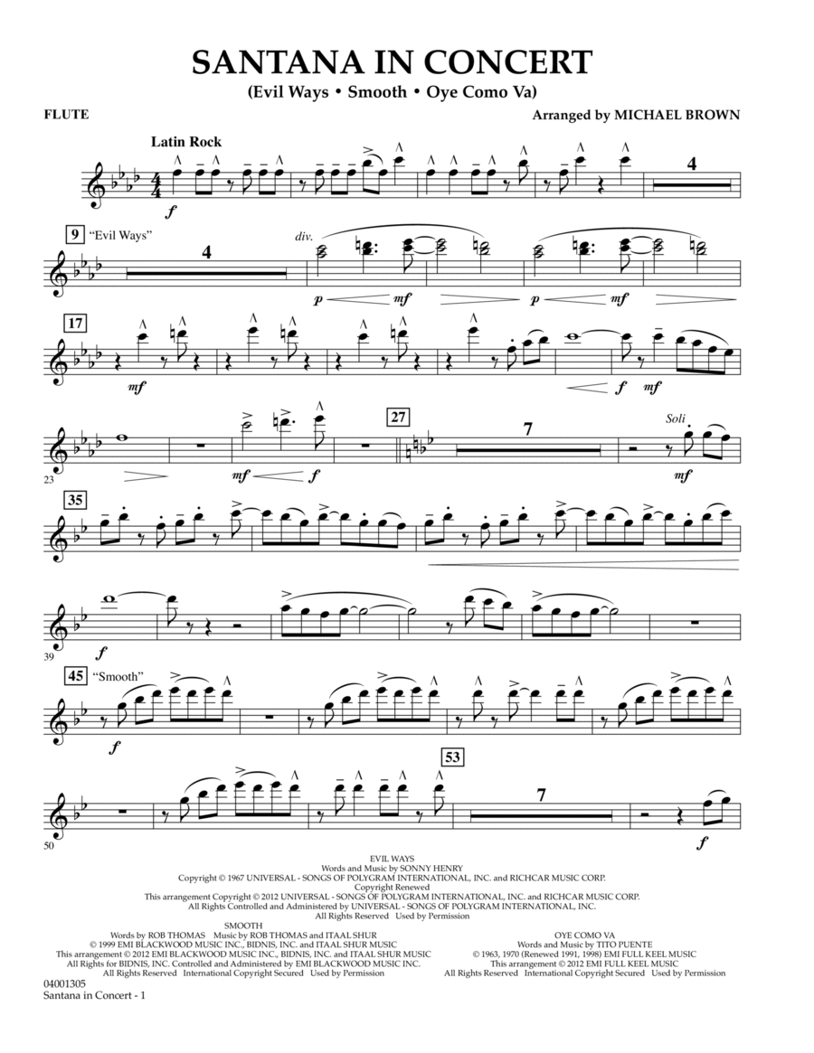 Santana In Concert - Flute