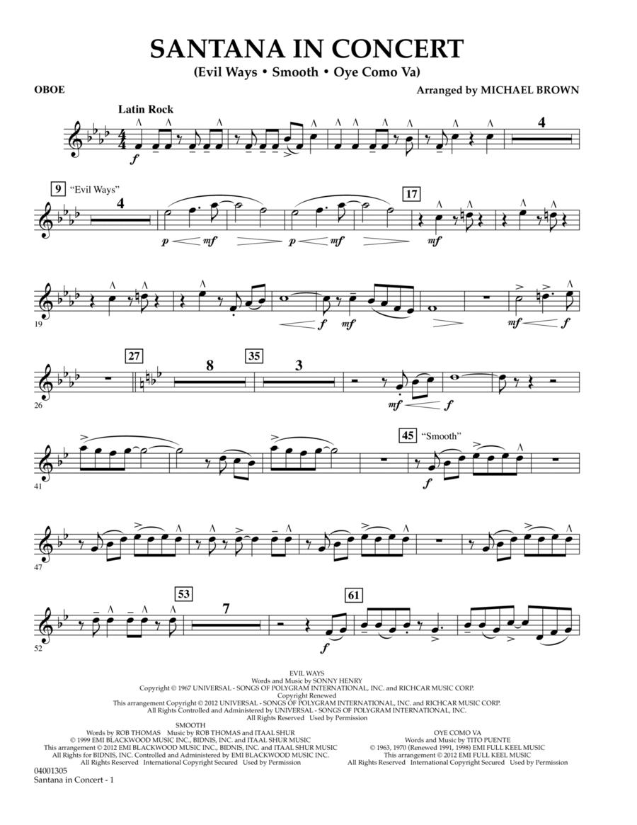 Santana In Concert - Oboe