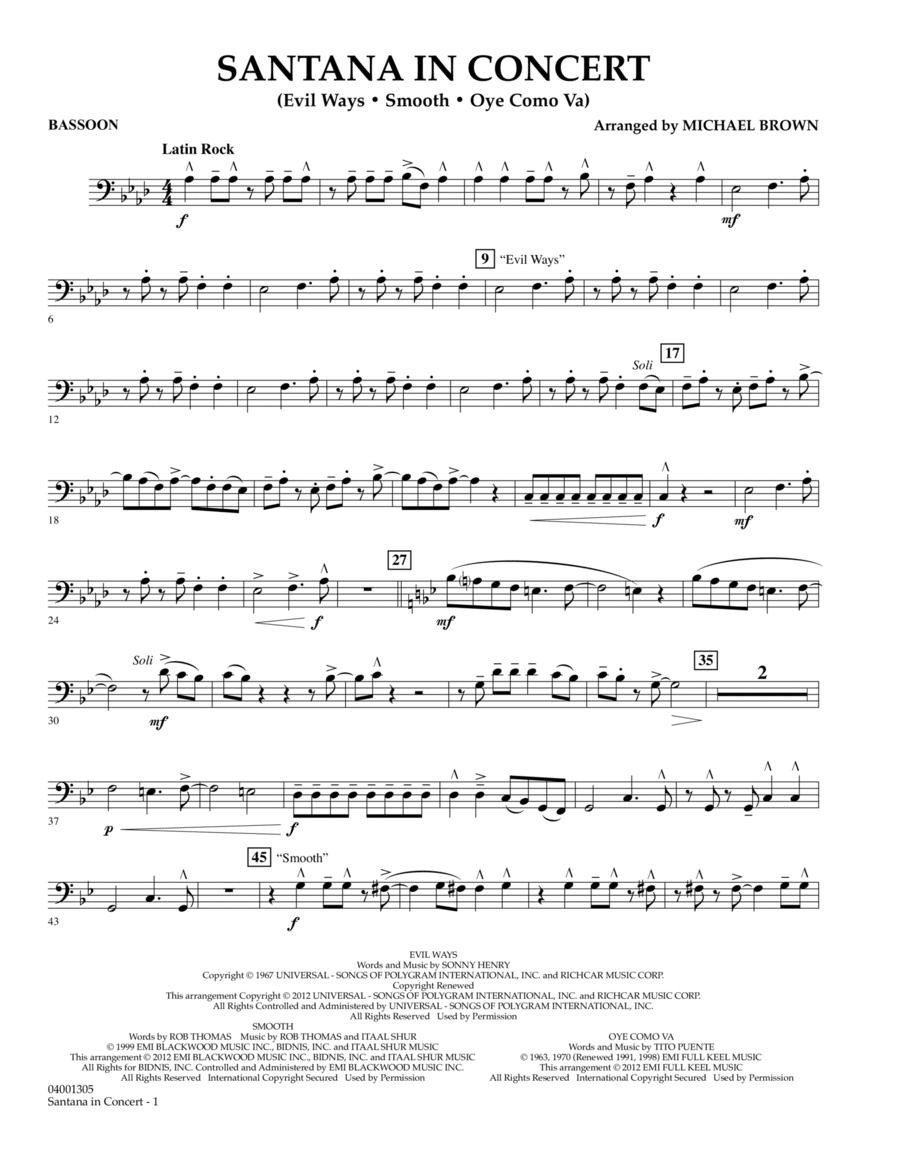 Santana In Concert - Bassoon