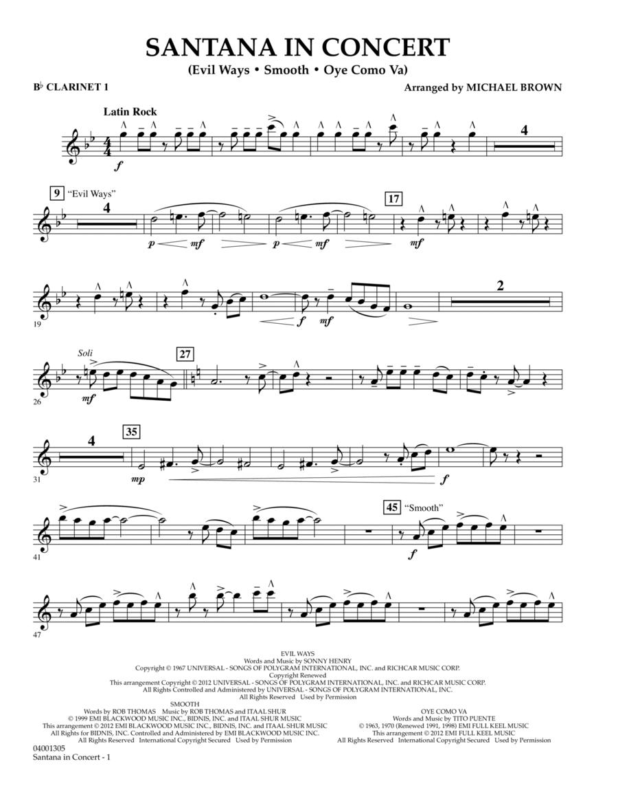 Santana In Concert - Bb Clarinet 1