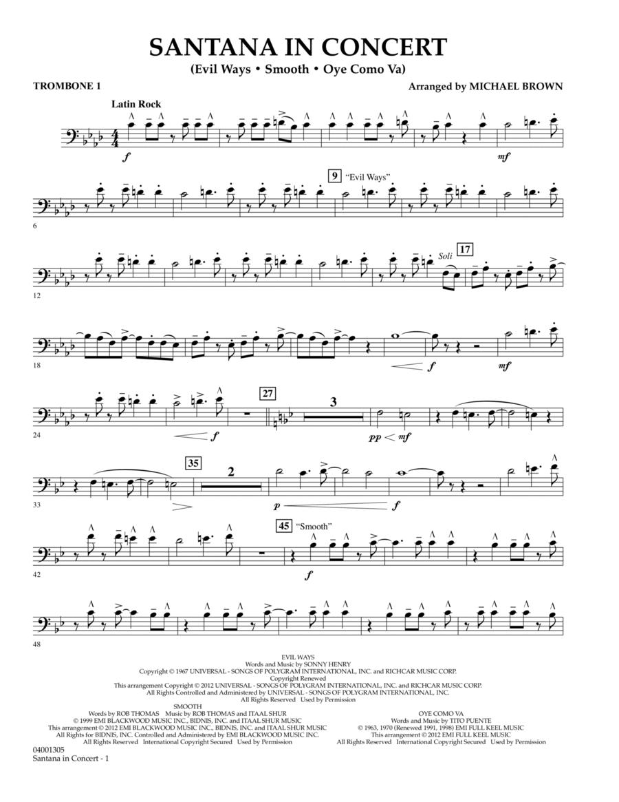 Santana In Concert - Trombone 1