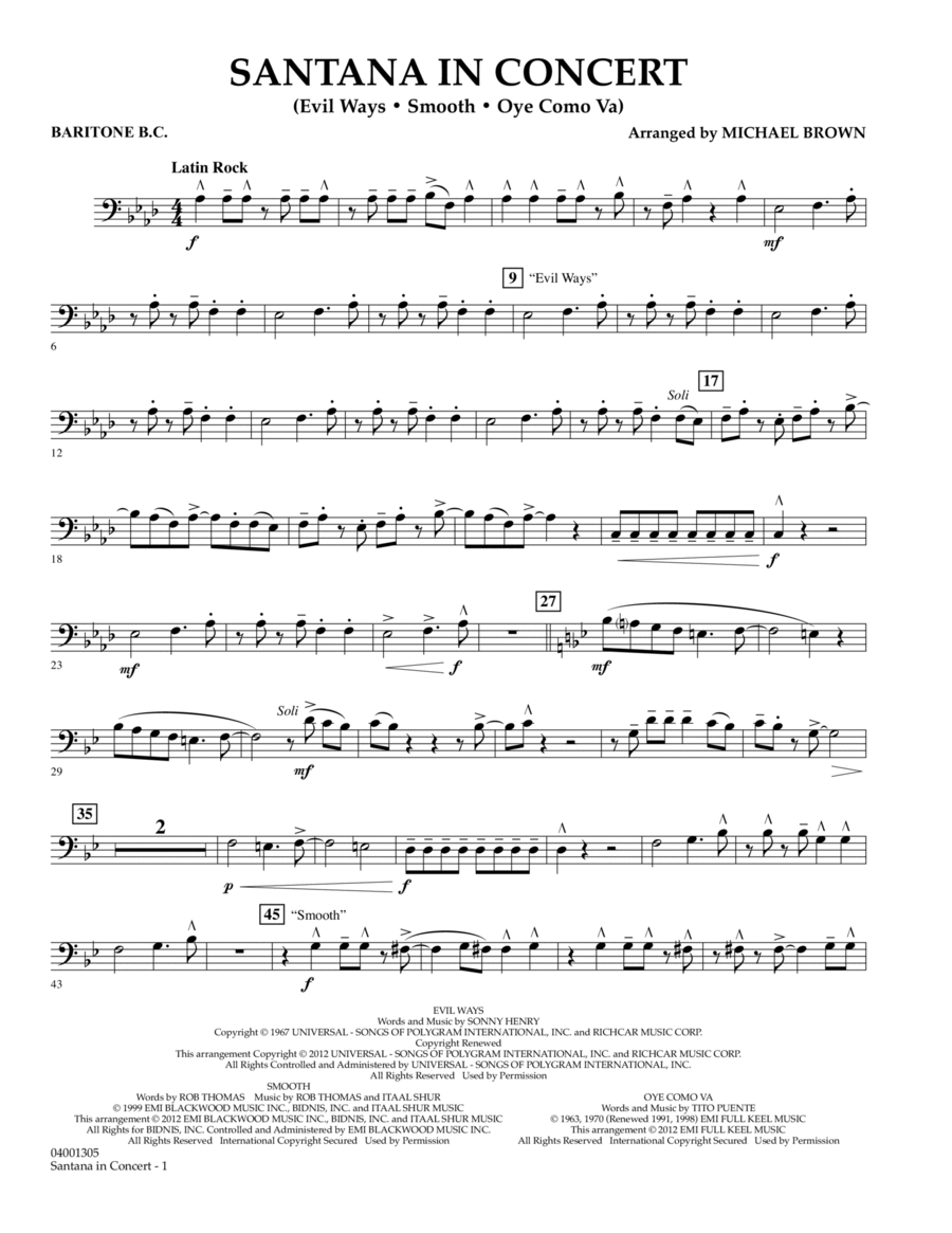 Santana In Concert - Baritone B.C.