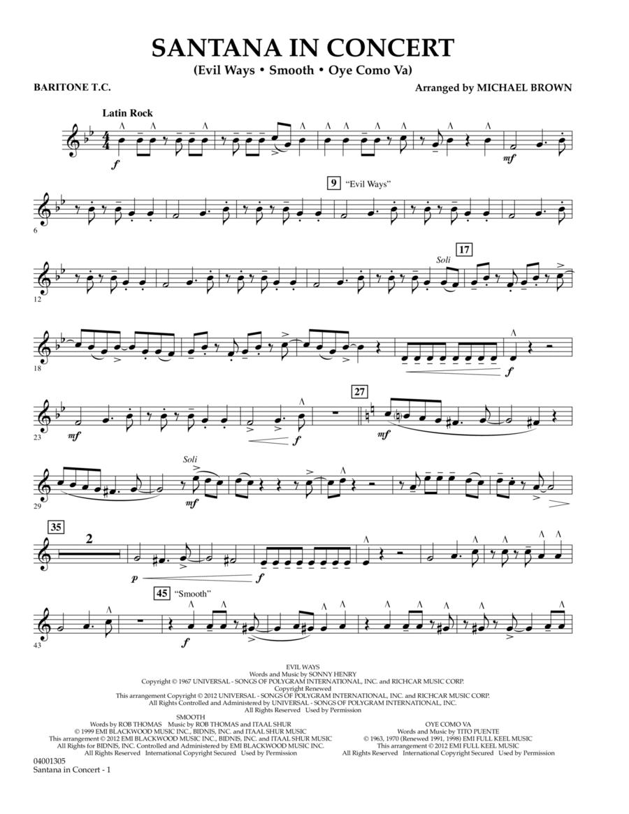 Santana In Concert - Baritone T.C.