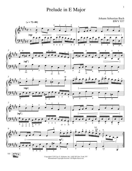 Prelude In E Major, BMV 937
