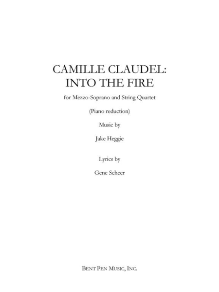 Camille Claudel: Into the Fire (piano/vocal score)