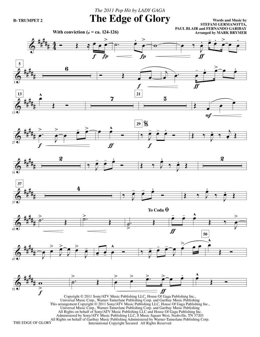 The Edge Of Glory - Bb Trumpet 2