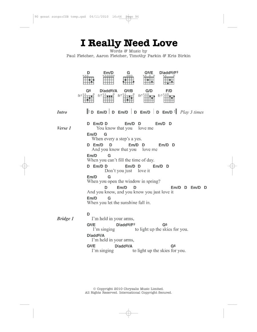 I Really Need Love