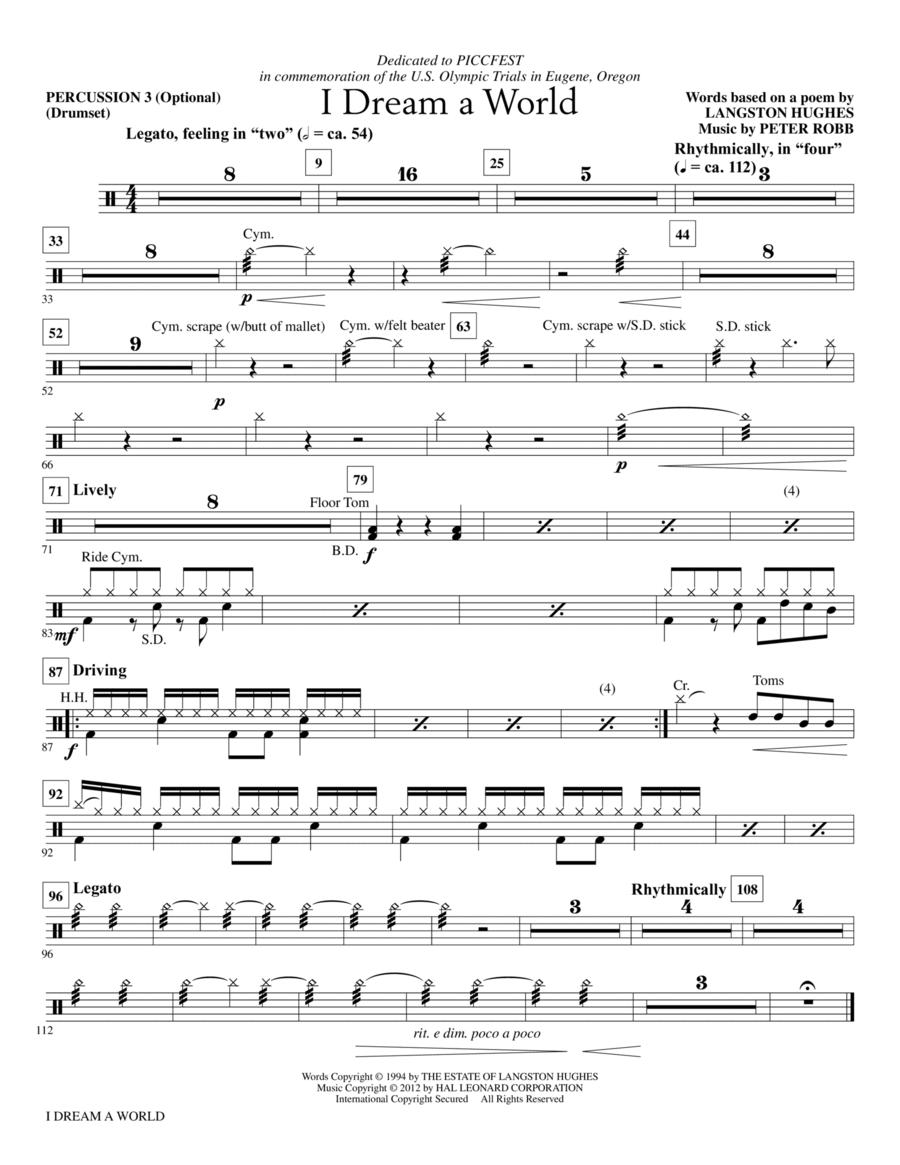 I Dream A World - Percussion 3