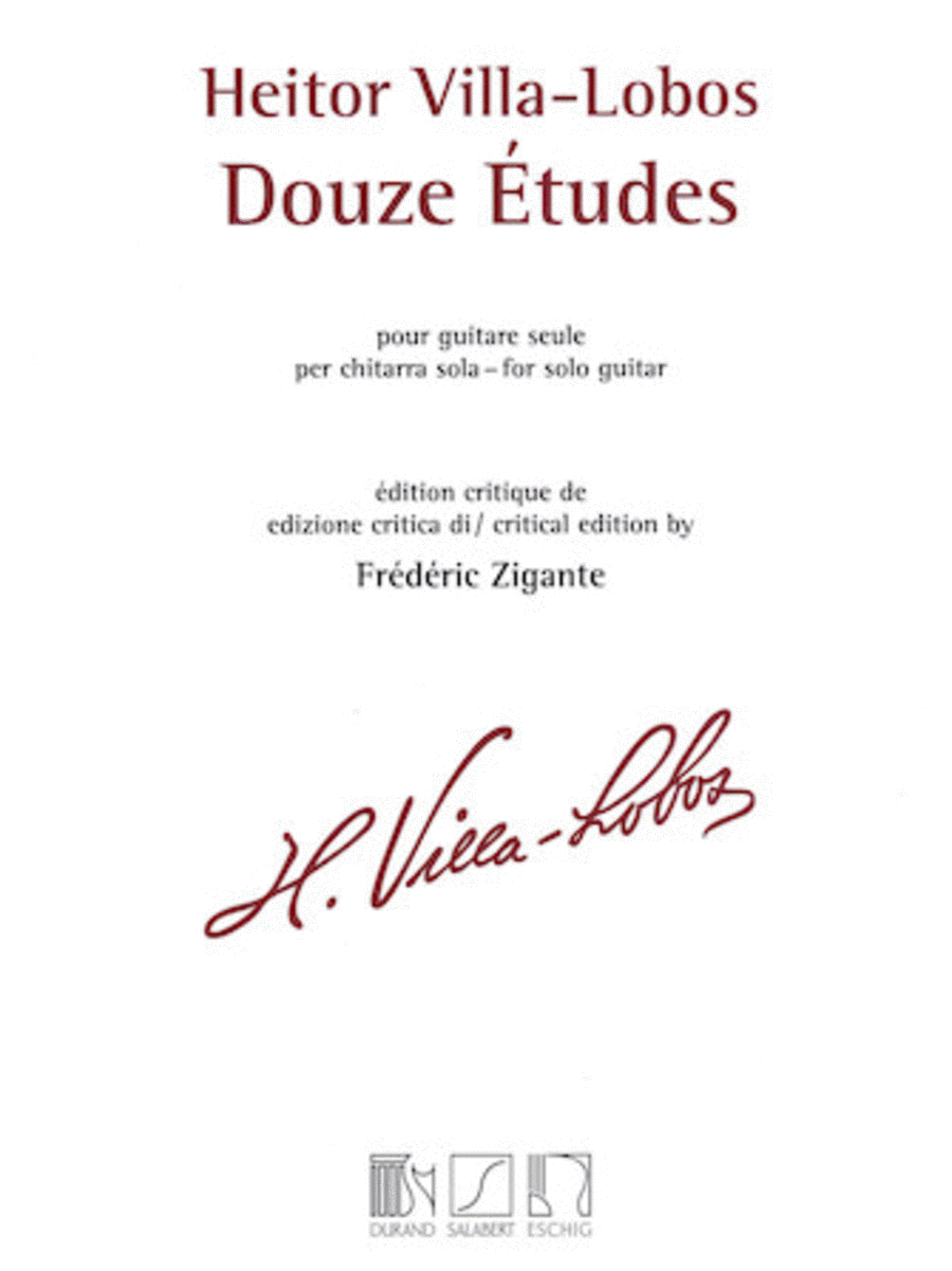 Heitor Villa-Lobos - 12 Etudes