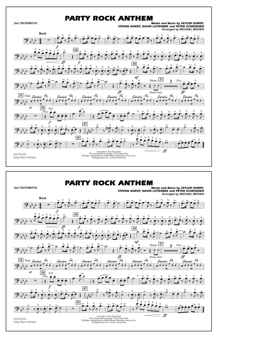 Party Rock Anthem - 2nd Trombone