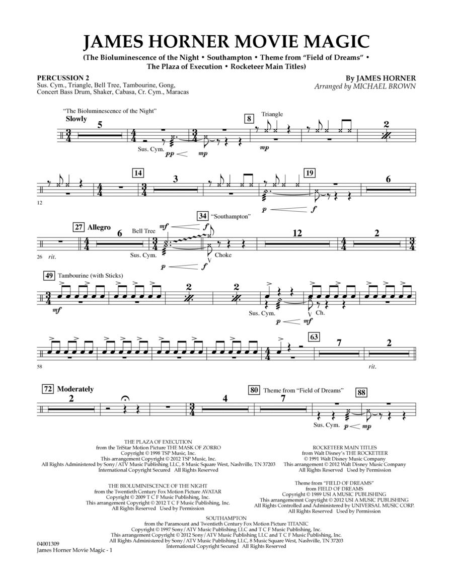James Horner Movie Magic - Percussion 2