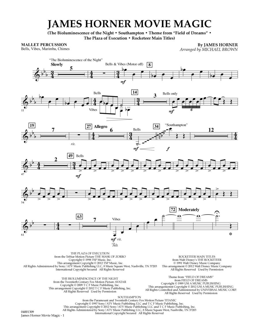 James Horner Movie Magic - Mallet Percussion
