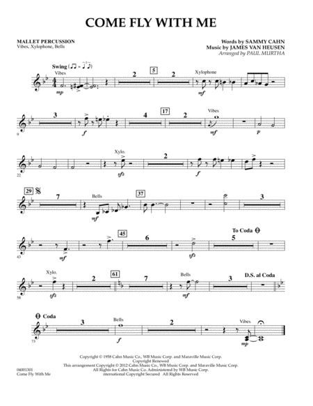Come Fly With Me - Mallet Percussion