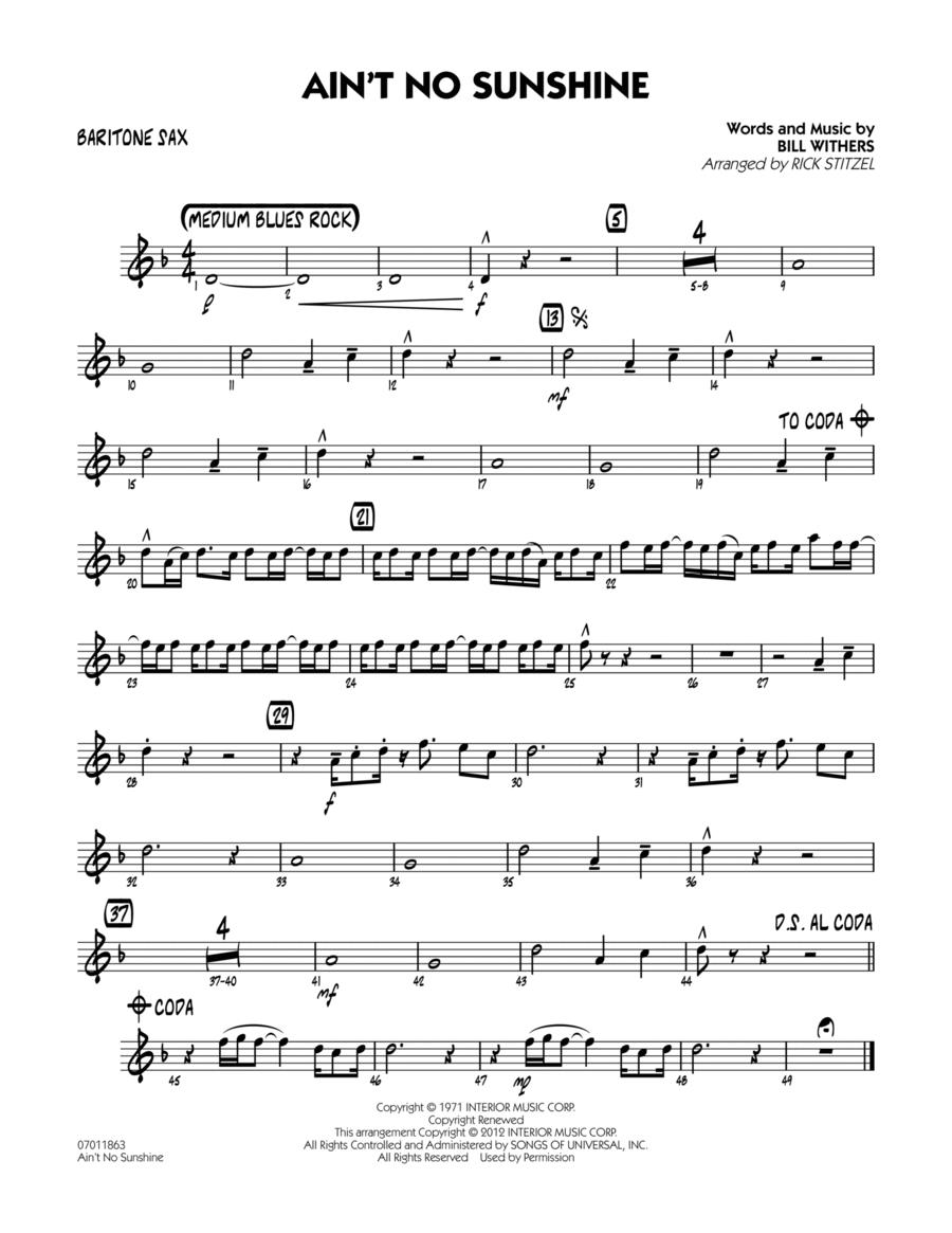 Ain't No Sunshine - Baritone Sax
