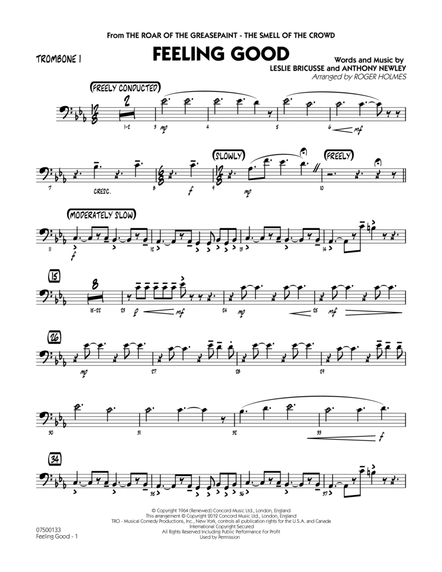 Feeling Good - Trombone 1