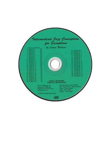 Intermediate Jazz Conception For Saxophone - CD only