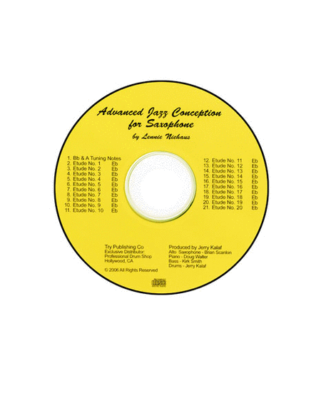 Advanced Jazz Conception For Saxophone - CD only