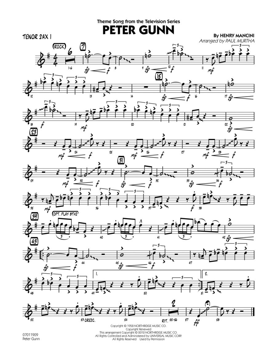 Peter Gunn - Tenor Sax 1