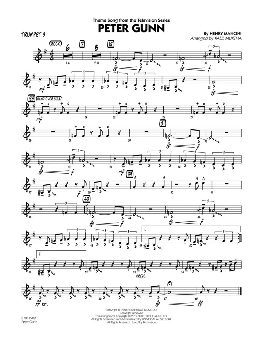Peter Gunn - Trumpet 3