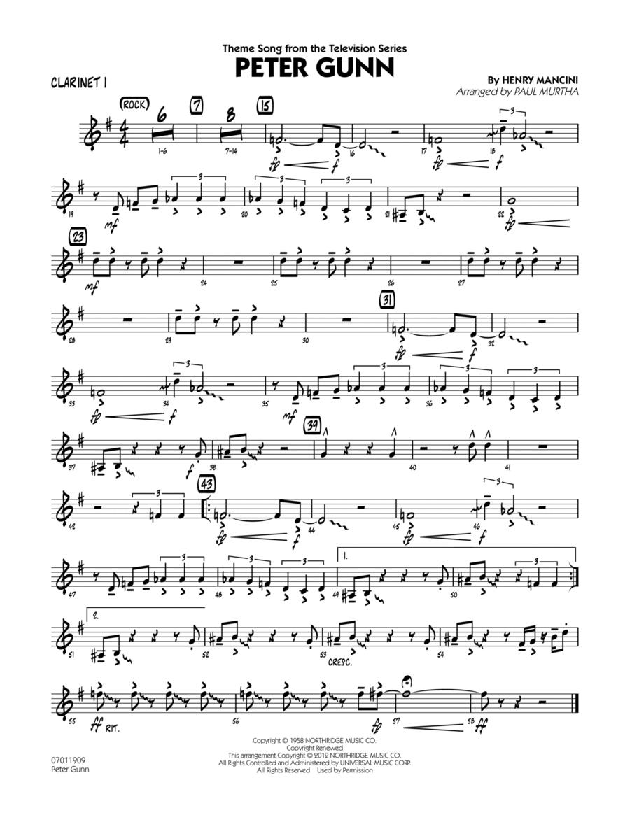 Peter Gunn - Clarinet 1