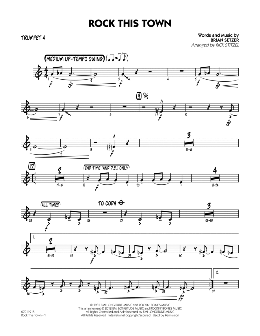 Rock This Town - Trumpet 4