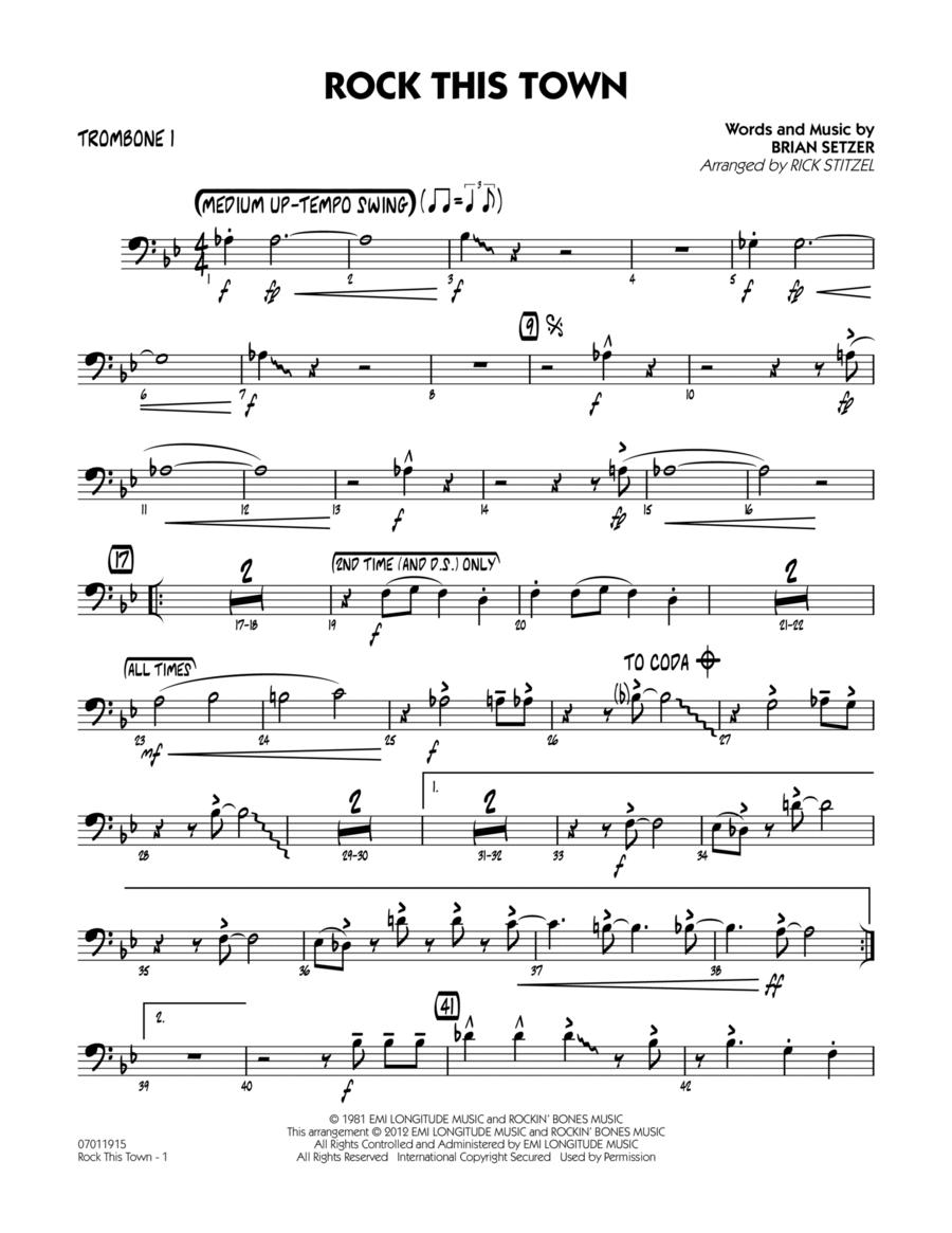 Rock This Town - Trombone 1