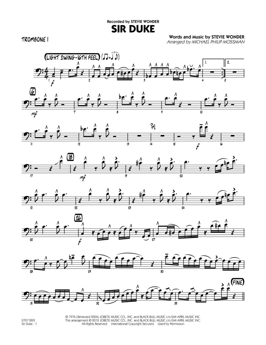 Sir Duke - Trombone 1