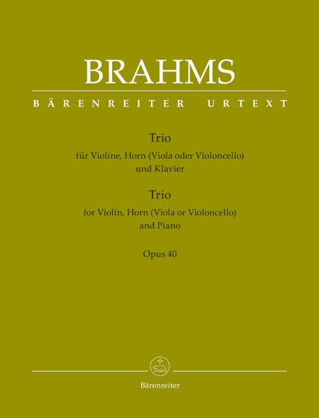 Trio for Violin, Horn (Viola or Violoncello) and Piano, Op. 40