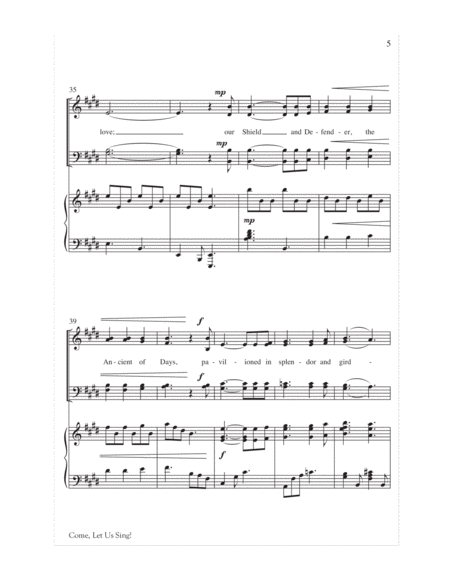Come, Let Us Sing! (O Worship the King)