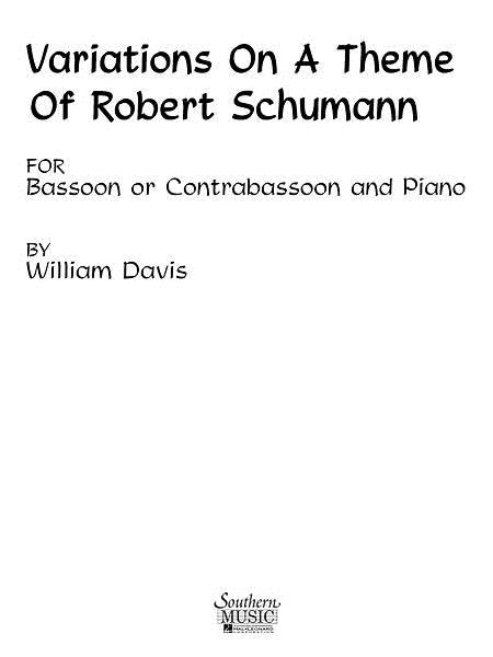 Variations on a Theme of Robert Schumann