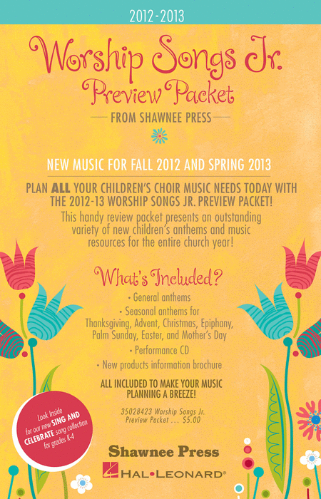 2012-2013 Worship Songs Junior Preview Packet