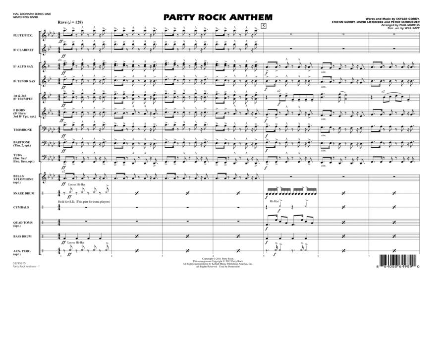 Party Rock Anthem - Full Score