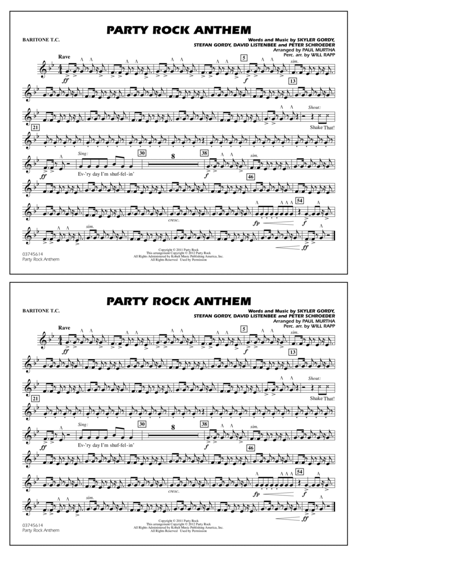Party Rock Anthem - Baritone T.C.