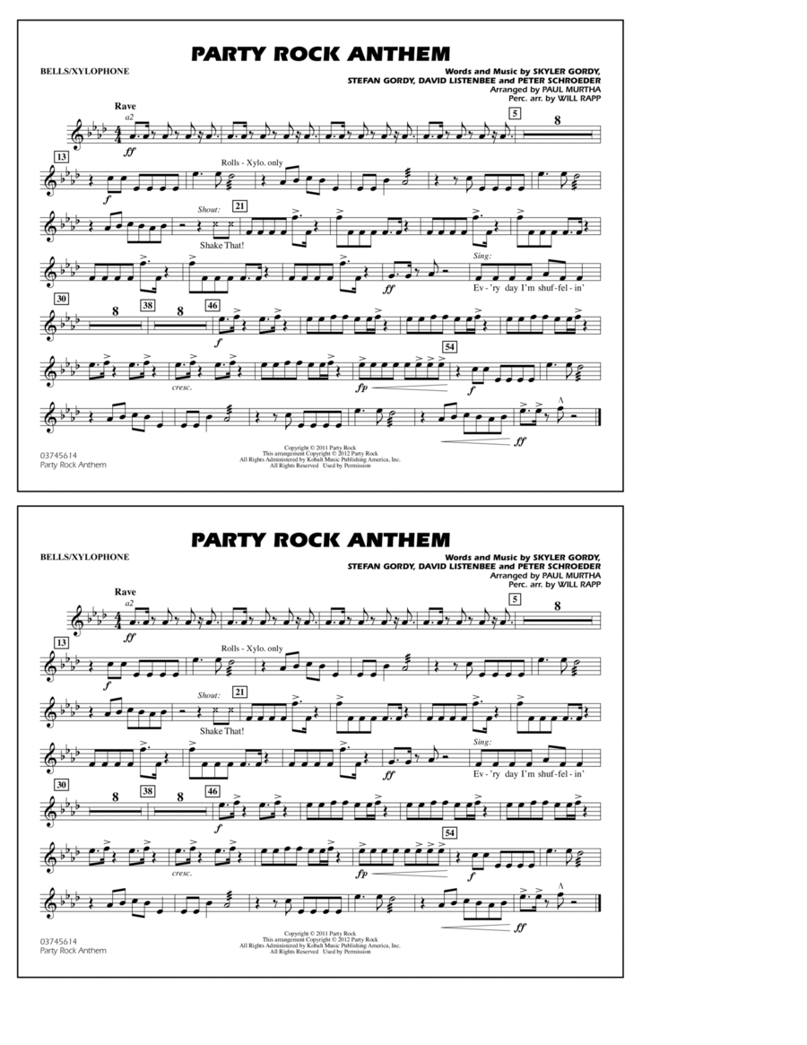 Party Rock Anthem - Bells/Xylophone