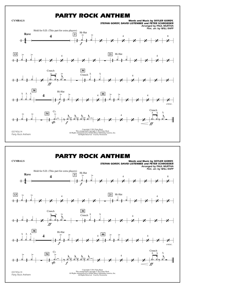 Party Rock Anthem - Cymbals