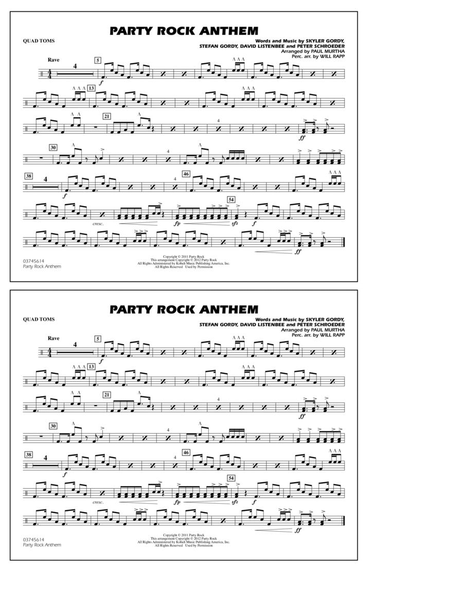 Party Rock Anthem - Quad Toms