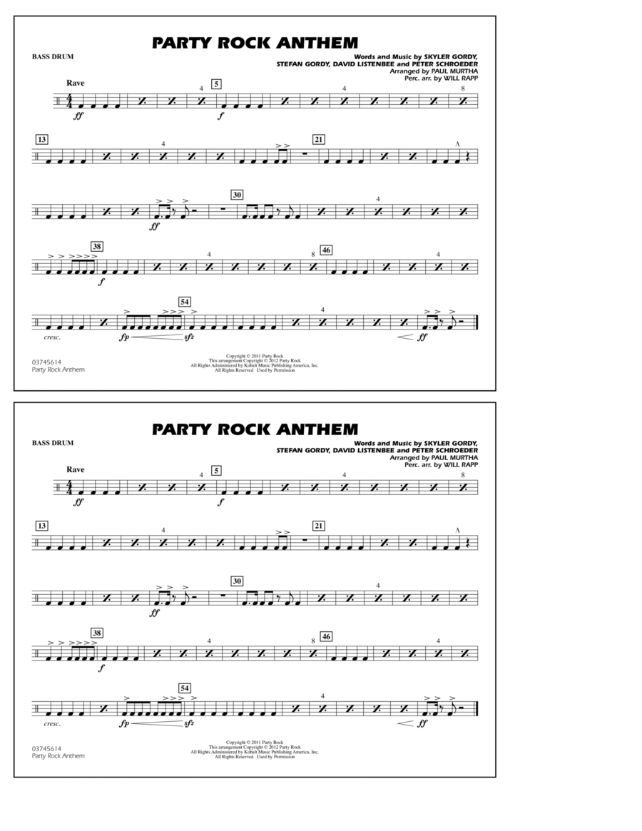 Party Rock Anthem - Bass Drum