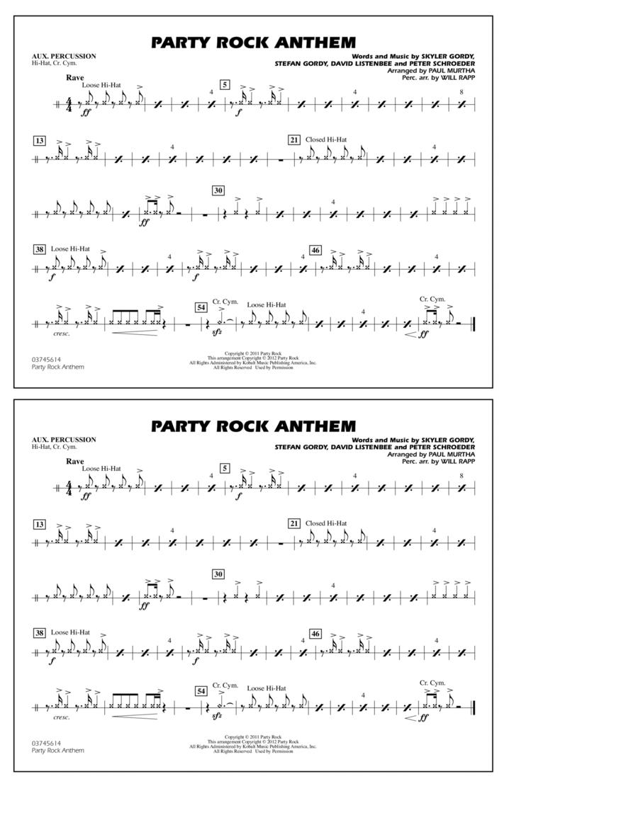Party Rock Anthem - Aux Percussion